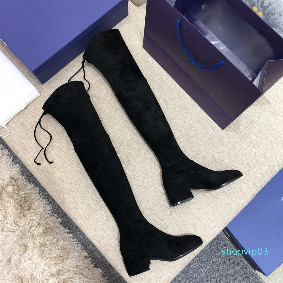Designer-y Mode Casual cuissarde Les Chaussures Bottes de femmes de 35 à 42 verges de Heel