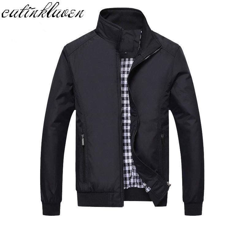 Yeni 2017 Ceket Erkekler Moda Günlük Gevşek Erkek Ceket Spor Bombacı Ceket Mens ceketler erkek ve Coats Artı boyutu M- 5XL T200106