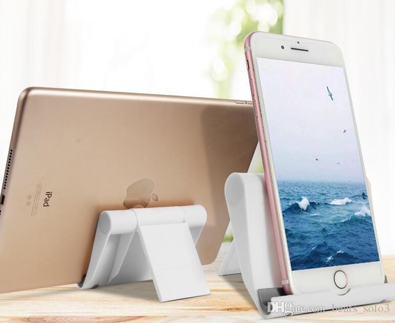 Caliente portátil Ajuste del ángulo del soporte del sostenedor de la horquilla flexible del teléfono de escritorio Soporte Soporte de montaje para la tableta del teléfono