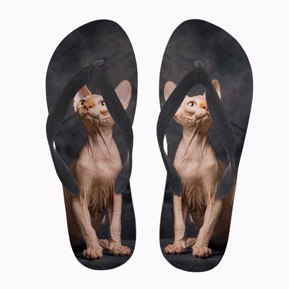 Personalizzato Flip Flops Kawaii canadese Hairless Cat Stampa donne Pantofole donna estate casuali dello slip-on Flats Flip Flops per la femmina