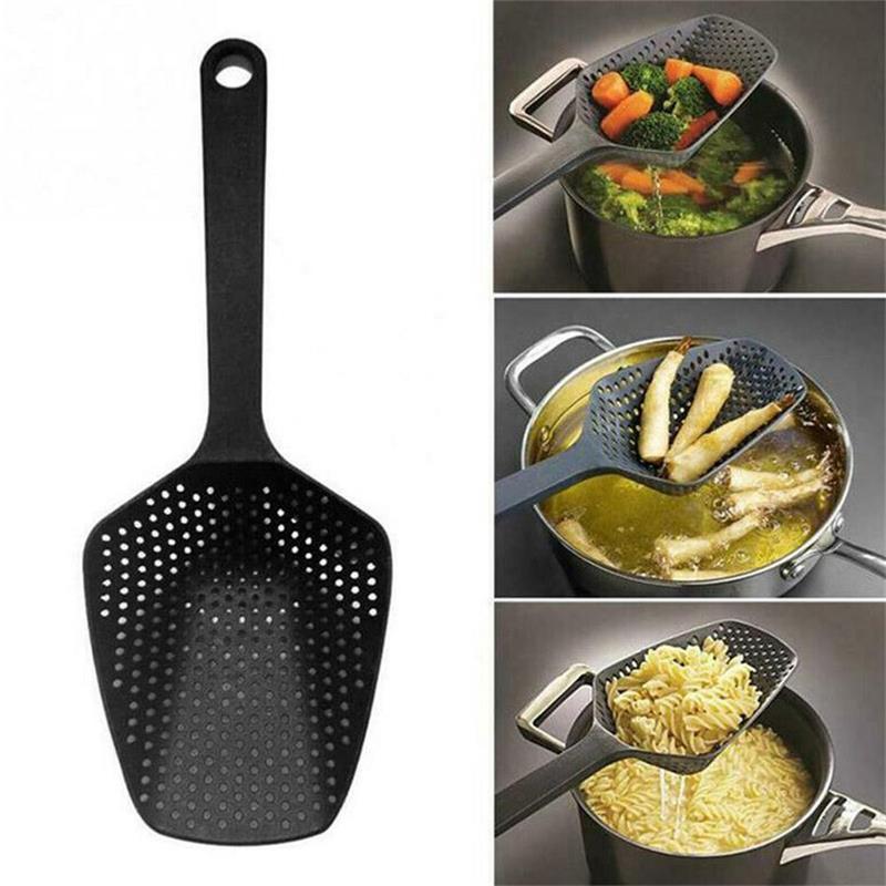 No-stick scarico scolapasta Pala Filtri Verdura Perdite utensile da cucina Accessori Gadgets Cooking Tools accessori per la casa Pentole
