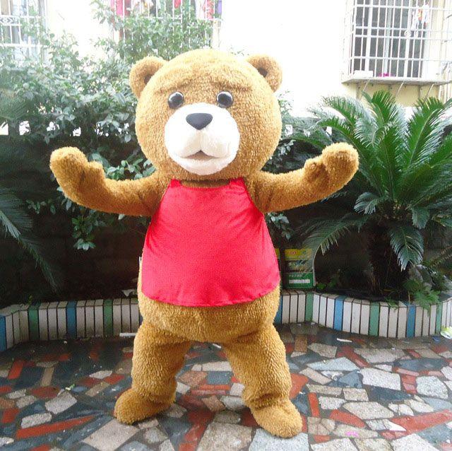Carino Teddy Bear Mascot Costume Halloween Cartoon Fancy Dress