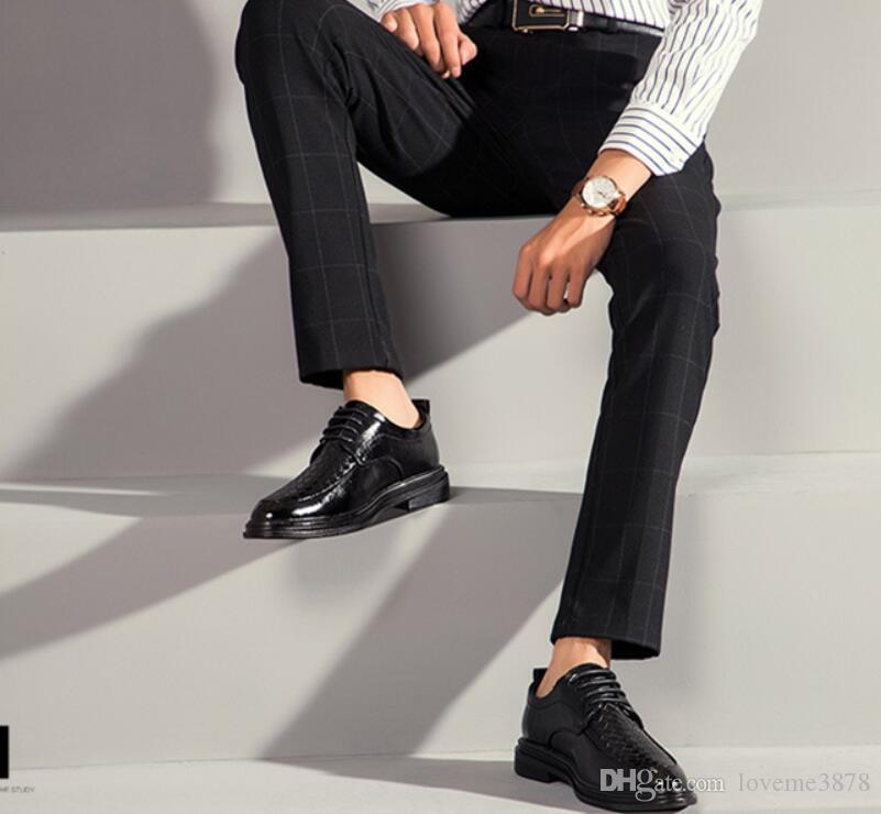 erkekler Kuaför gelinlik Ayakkabi ofis ayakkabı erkekler biçimsel erkek deri ayakkabı kahverengi elbise italyan lüks zarif ayakkabı