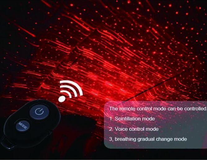 Universale Ambient Light Car Accessories decorativa interna della stella del cielo del soffitto della luce k8