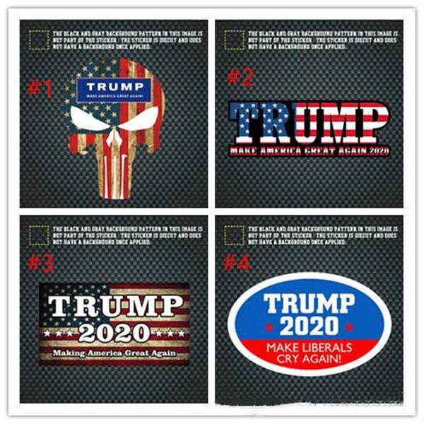 Donald Trump Autocollants ATOUT 2020 Amérique Président élection générale Autocollants de voiture autocollant véhicule Paster Trump décoration Wall Sticker DHL gratuit