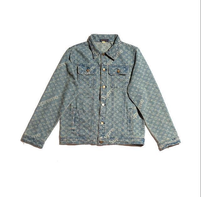 2020 Itália outono inverno moda mais recente Assinatura carta paris volta desportivas Letra azul bordados casuais mens alta qualidade superior Denim Jacket