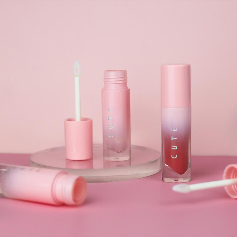 4 ml Gradient Rosa Leer Lipgloss Tube leer Lippen-Balsam Flaschen Container Mini nachfüllbar Lipgloss Flaschen Beauty-Tool