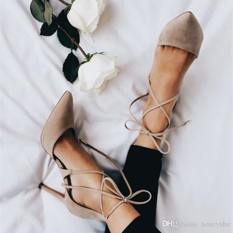 Kolnoo Ladies High Heel Dress Shoes D'orsay Style Kid-suede Pointed Toe Casual Shoes Party Prom Office Fashion Evening Shoes D078