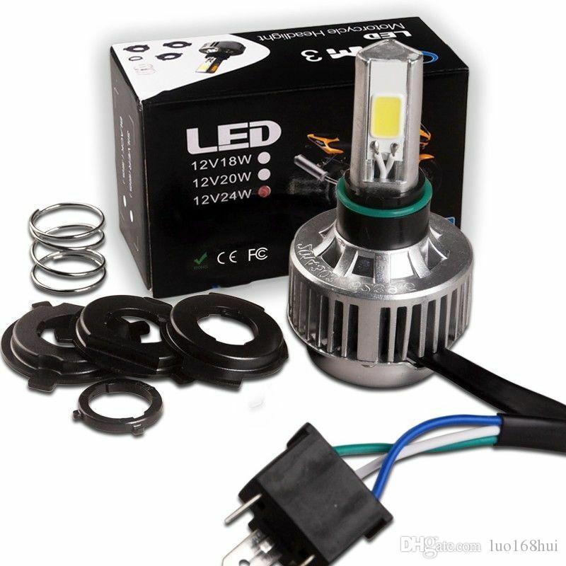 H4 Moto Phares COB Ampoule LED haute puissance d'éclairage HID Blanc Salut / Feux de croisement Café Racer Moto Lamp
