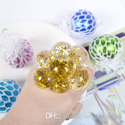 Grape ball gold powder vent ball decompression hand pinch ball funny creative autism children's toys wholesale