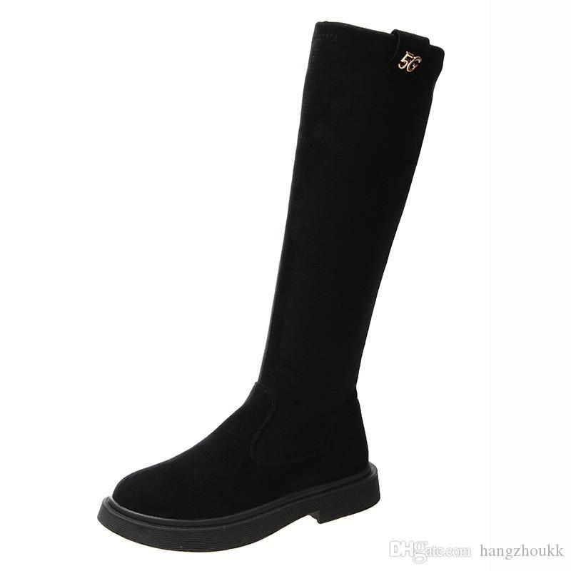 Women Winter Suede Knee High Boots