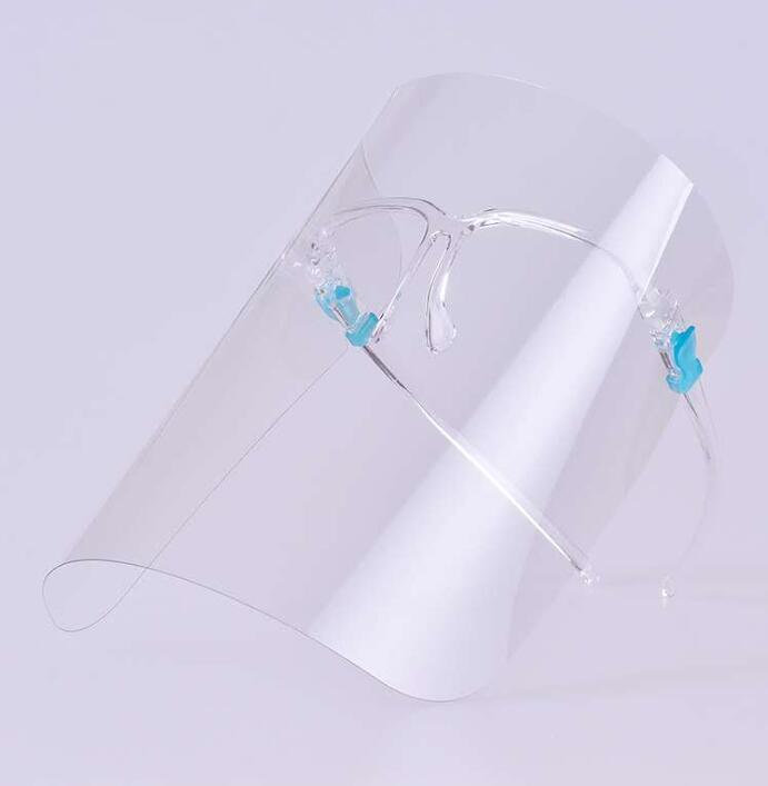 careta de protección transparente prueba plena cara cubierta de aceite-Splash anti-UV para Visor de protección con marco de cristal anti-vaho para ojos y rostro Máscaras GGA3541
