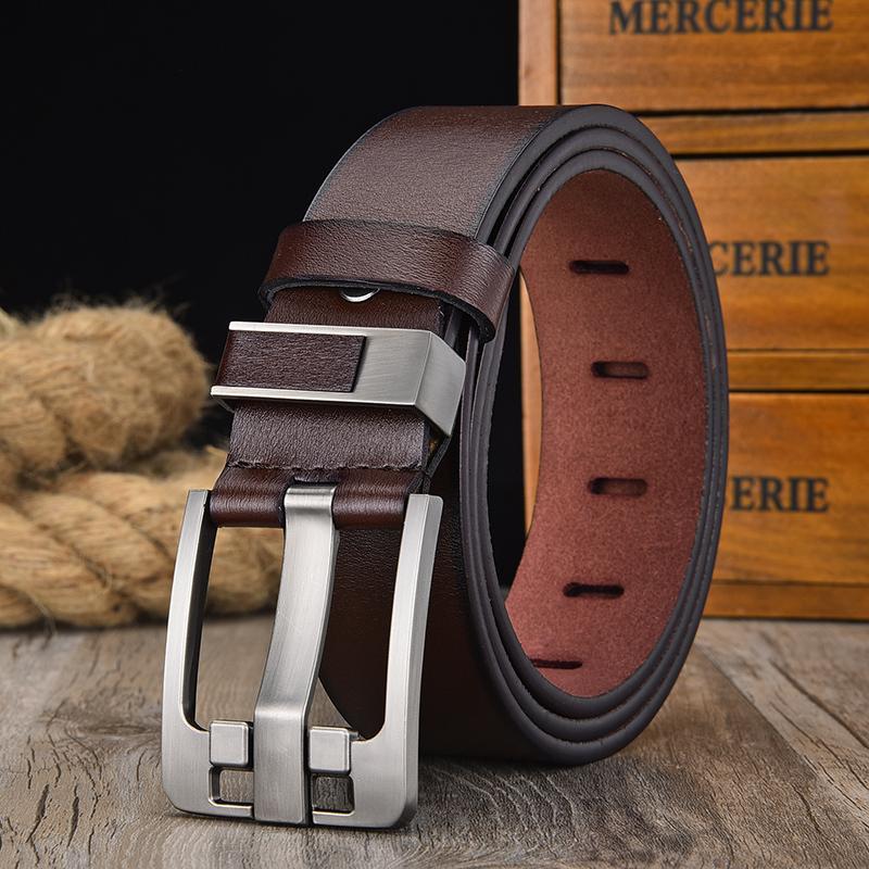 cintura in pelle uomini della cinghia fibbia mucca cinghie di cuoio genuine, da uomo 130cm mens di alta qualità Cinturones hombre