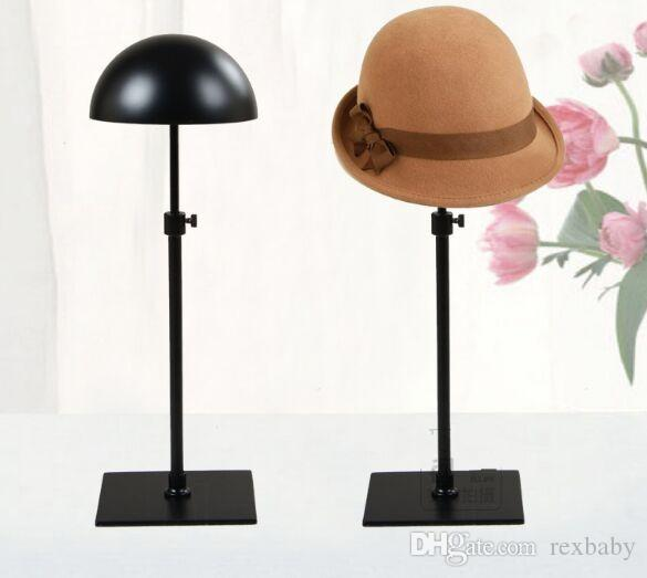 Black Metal Hat Display Frame Adjustable Cap Holder Stand Rack Props Wigs Creative Resistance To Fall Fashion Show