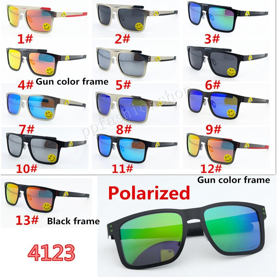 4123 óculos polarizados Homens Moda Sports Ciclismo óculos de marca HOLBOOKS Sunglasses UV Protection Reflective Coating Eyewear