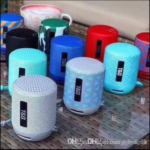 Sept couleurs TG129 Mini haut-parleurs Bluetooth portable sans fil stéréo Subwoofer Sound Box Haut-parleur extérieur Lecteur audio