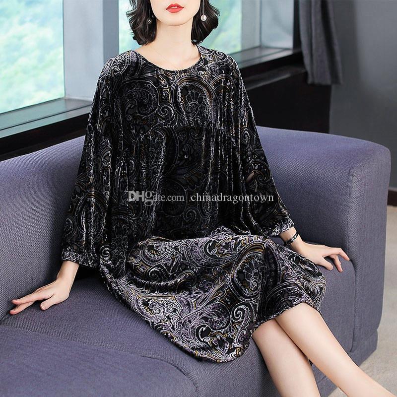 Nueva primavera vestido de otoño estilo sari ropa suelta mujeres vestido vintage Asia Pacific Islands ropa envío gratis