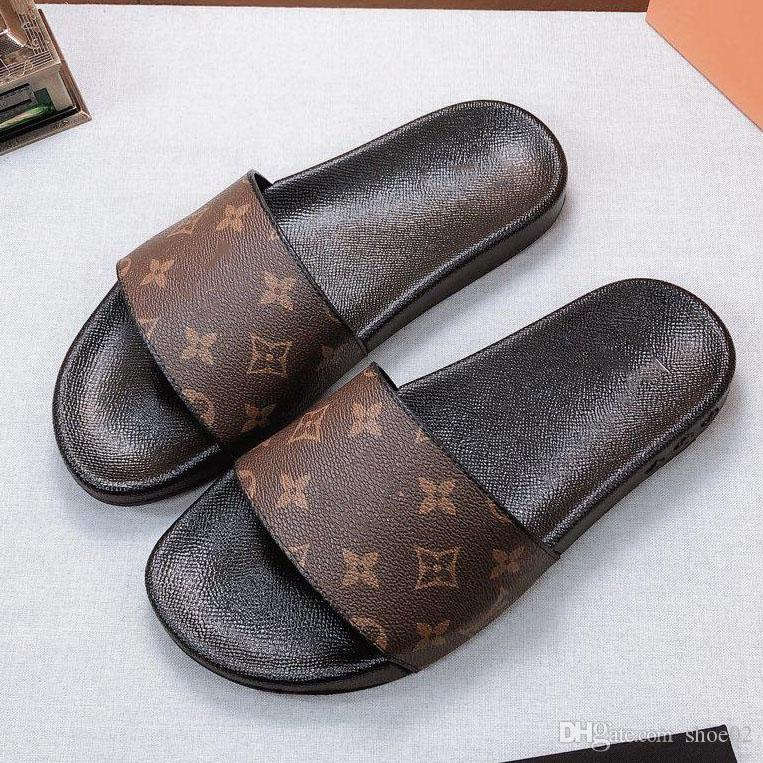 scarpe donna / uomo delle pantofole dei sandali ciabatte di alta qualità pantofole dei sandali scarpe casuali formatori piatte Spostare la levetta EU: 35-45 Con la scatola 09