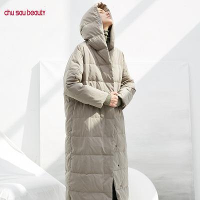 Womens Designer Daunenmantel beiläufige windundurchlässige lange Jacken Mode für Frauen Winter-Fest Farbe kleiden 2 Farben 2019 Neu für Großhandel Top-Qualität