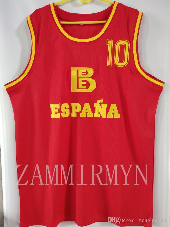 İspanyol espana baroncesto vintage basketbol formalar erkekler herhangi bir boyutta terzi terzi