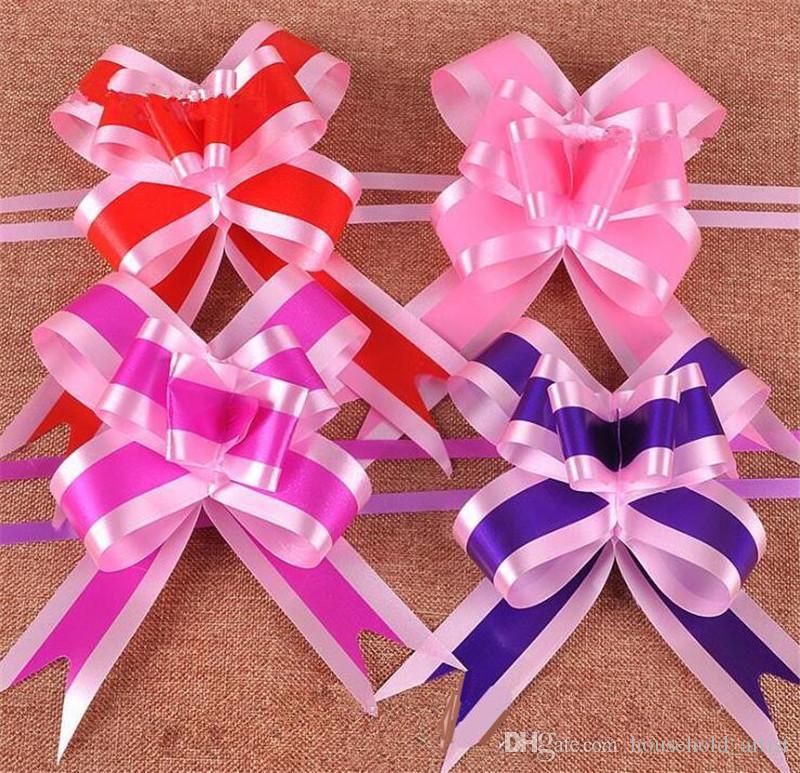 boda de la decoración del partido tirón cinta de la flor del arco del arco caja de regalo de embalaje de la Navidad de la boda sala de coche ornamento celebración de la decoración del baile