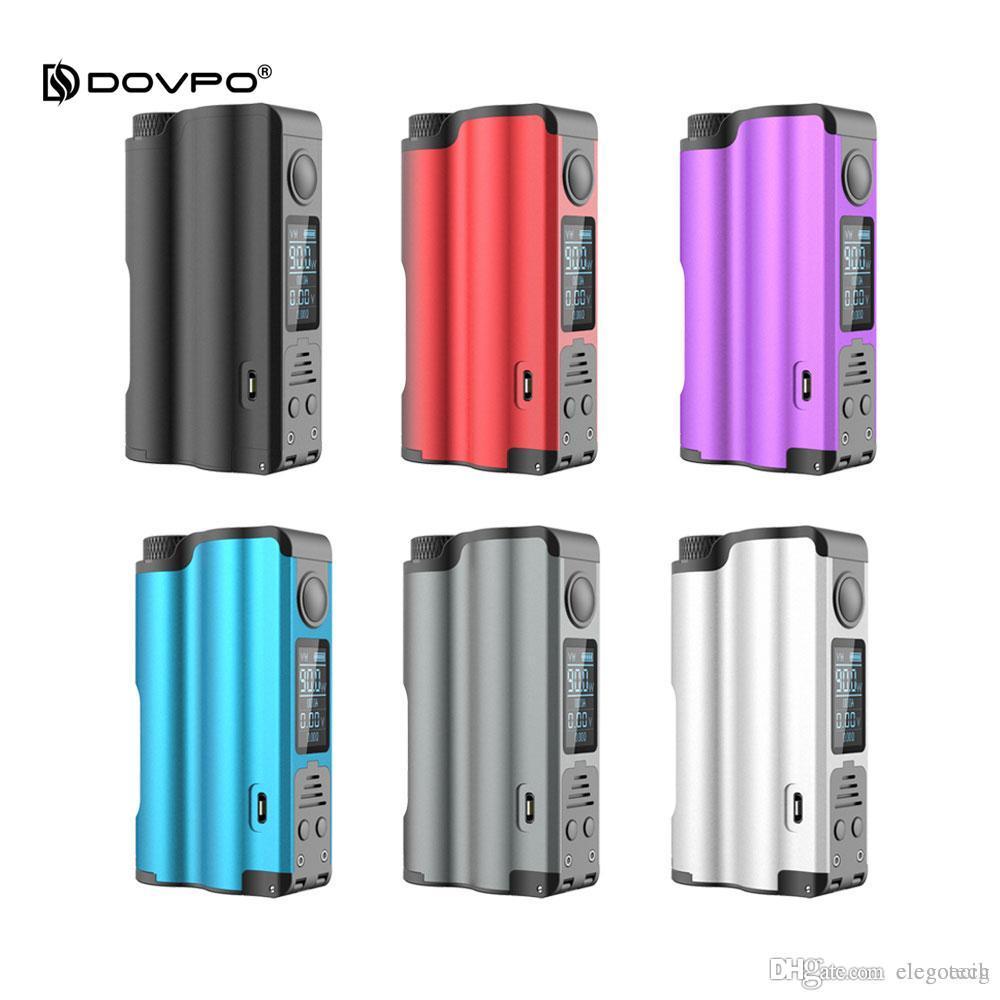 Dovpo Topside 90 Вт верхнее заполнение Squonk Mod 10 мл питание от одной батареи режим контроля температуры байпаса 100% электронные сигареты Моды