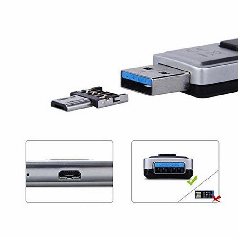 قرص فلاش USB 1000PCS البسيطة U 5PIN مايكرو OTG كابل محول محول لXIAOMI HTC سامسونج اللوحي هواوي كابو