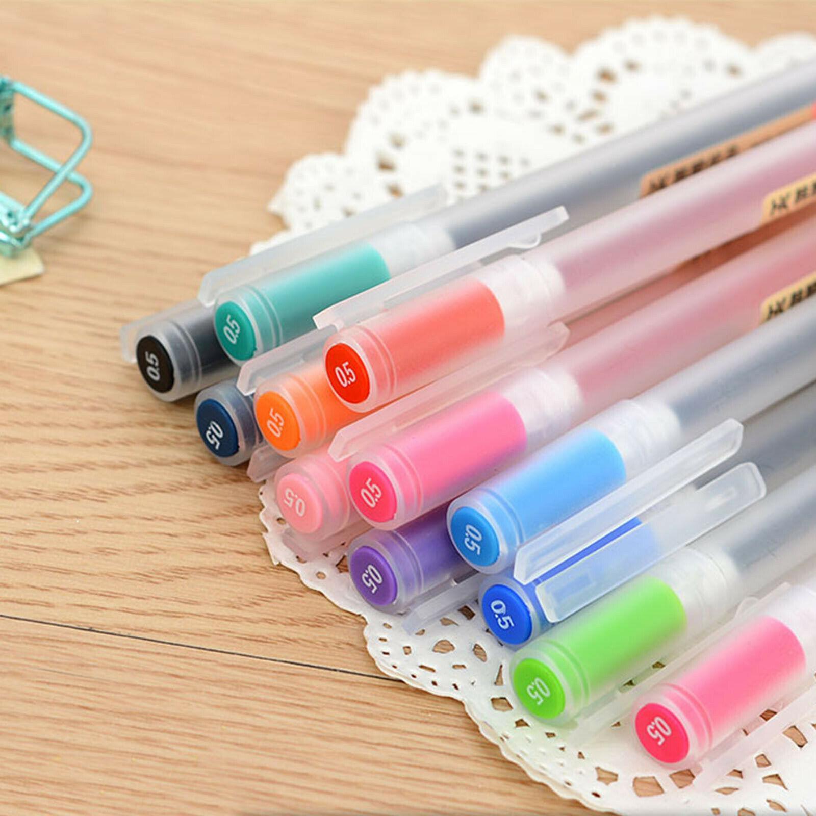 في الأوراق المالية! 12 ألوان / مجموعة أجزاء غير تقليدية صانع الأقلام 0.5 ملليمتر الحبر القلم مدرسة مكتب توريد الفن شحن مجاني