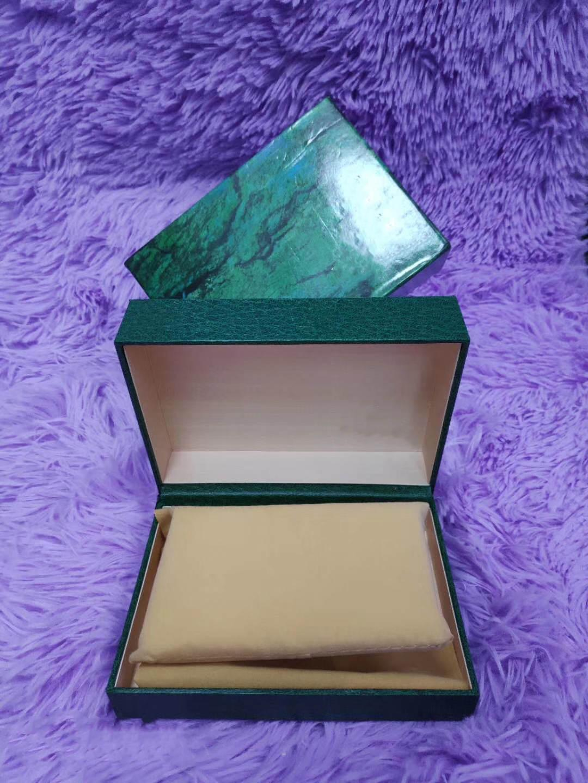 Yeni tasarım lüks İzle Kutusu Erkek ve Kadın İzle Kutusu Erkekler İzle Yeşil Kutu kitapçık kartı