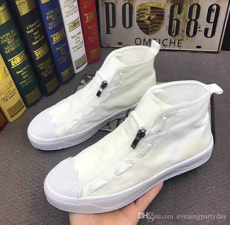 Leader Show Zapatos casuales para hombres Zapatillas altas y cómodas para hombres Zapatillas de deporte para hombres Zapatillas de ocio Zapatillas Zapatillas
