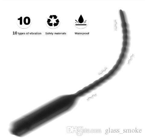 10 modos pênis vibrador para plugue dilatador para sexuelstoys abastecimento galo brinquedos 5mmjouets homens uretral masculino, adulto massager sexo masturbator ad uimb