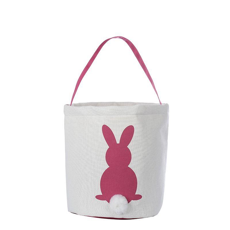 Ovos Coelho Easter Egg Basket férias Carry coelho Printed Canvas presente Saco dos doces