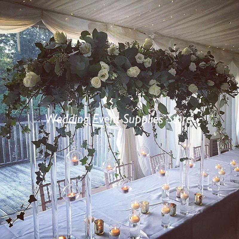 10PCS Fiore acrilico all'ingrosso Allestimento di nozze vaso libero centrotavola alto Floral Frame Rack decorativo
