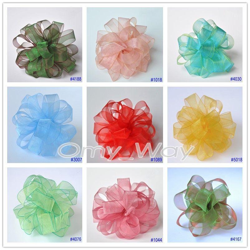 Sheer Organza Silk Ribbons 11 SIZES, 168 Colors, DIY Craft,Zakka,Hair,Sewing,Packaging,Wedding Party,Hair Bow Ribbon Tape
