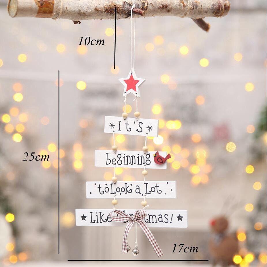 Рождественская Елка Подвесные Украшения Деревянные Висячие Двери Магазина Орнамент Рождество Для Домашнего Декора Новый Дизайн Мода Фестиваль Enfeites