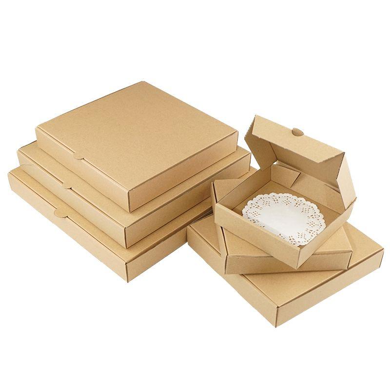 10PCS / Pizza boîte cadeau boîte kraft supports pizza papier format personnalisé et l'impression