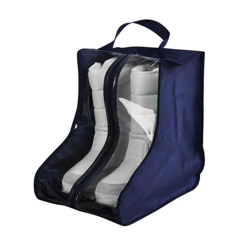 Oxford Cloth Waterproof Shoes Bag Shoes Dust Bag Boots Cover Storage with Clear View Window