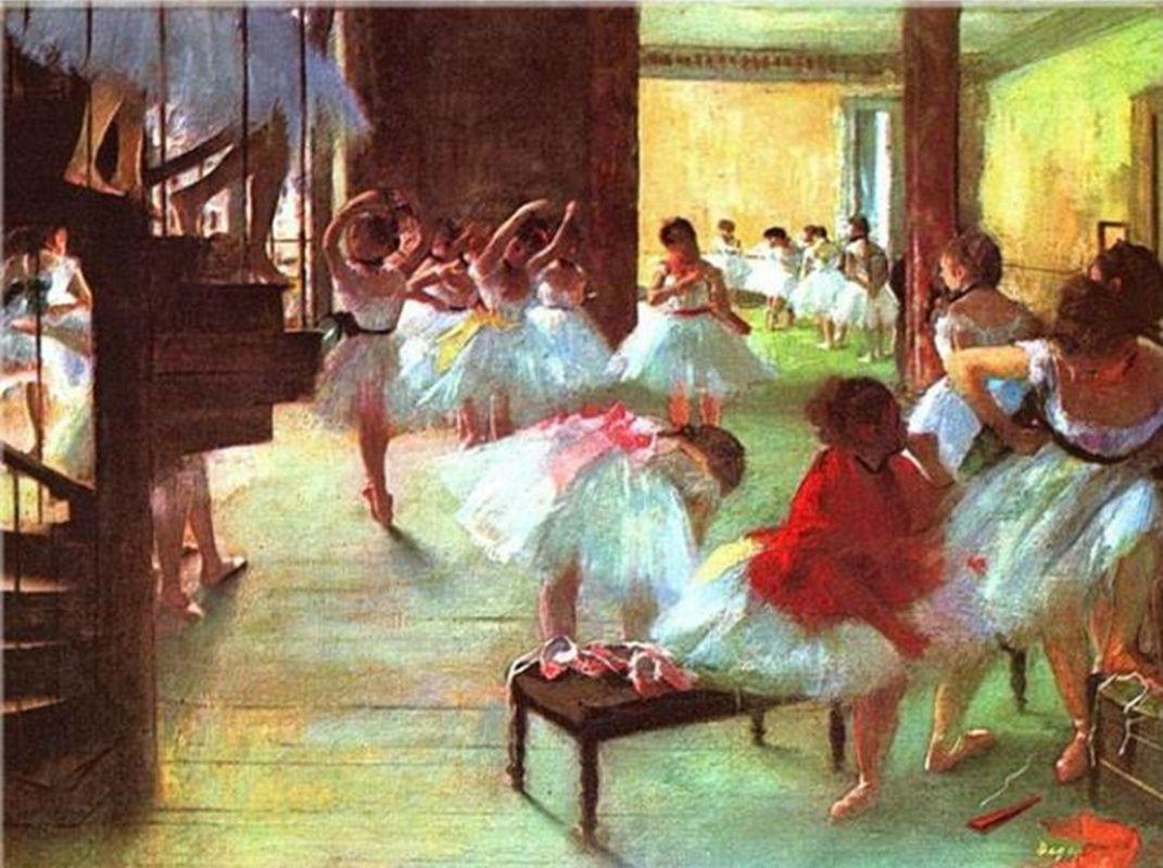 Edgar Degas imagens - Ballettschule Home Decor pintado à mão HD impressão pintura a óleo sobre tela Wall Art Canvas Pictures 200107