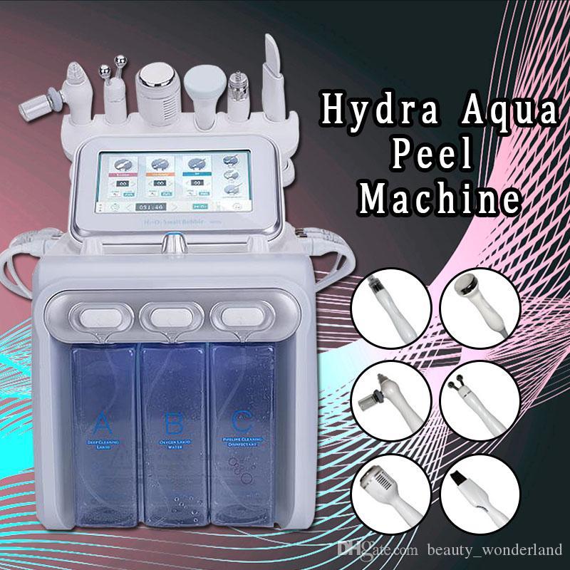 2019 Yeni Hydra Su Yüz Temizleyici Aqua Peel Ultrason Microcurrent BIO Soğuk Hammer H2O2 Tabancası
