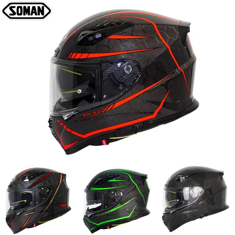 Casque Moto Ece Helmet for Men Cool Fluorescent Line Street Motorad Helm Light High Strength Full Face Capacetes Para Moto