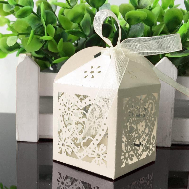 Love Heart Laser Cut Hollow Carriage Favors Gifts Candy