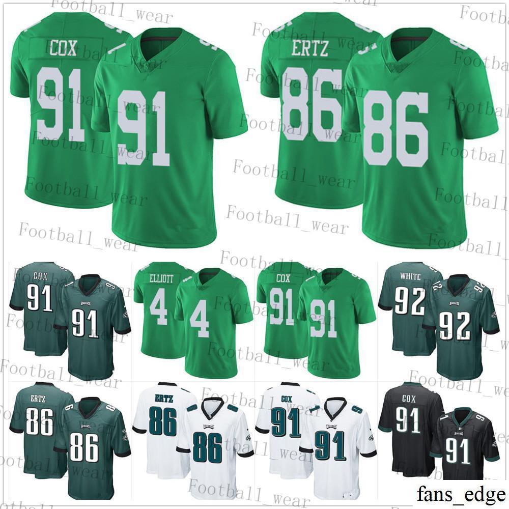 buy popular d46be e3283 2019 Philadelphia Eagles Jersey 96 Derek Barnett 91 Fletcher Cox 86 Zach  Ertz 4 Jake Elliott 71 Jason Peters 62 Jason Kelce 58 Hicks Football From  ...