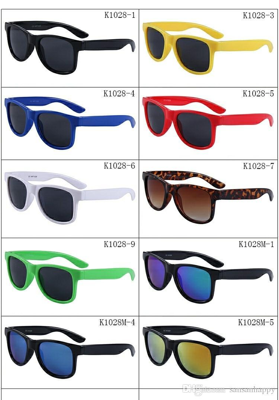 Bambini anti-UV carino bambino colorato sole-ombreggiatura da viaggio occhiali da sole boy occhiali da vista all'aperto occhiali da sole occhiali tipi accessori ragazza cujbw