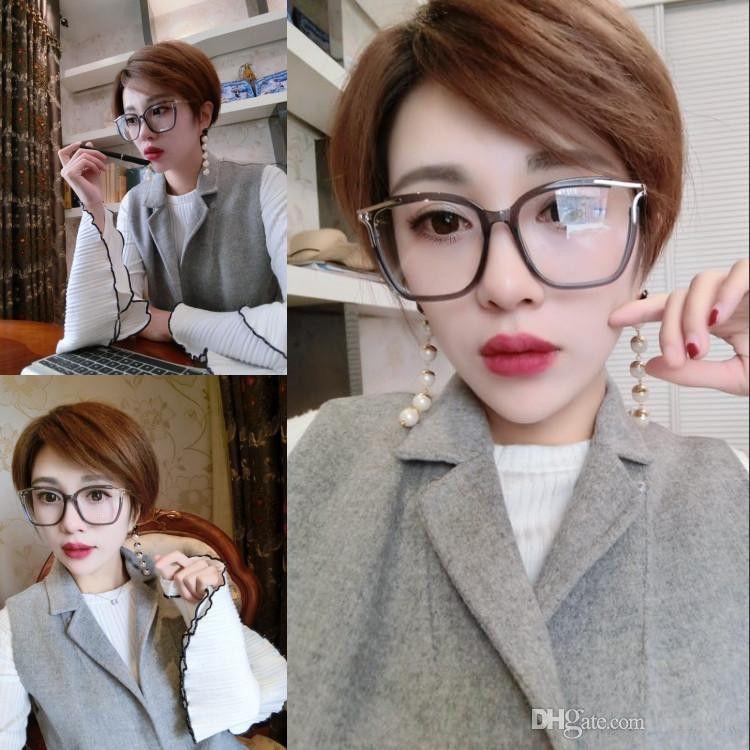 Qualtiy CE2689 zarif kadın reçete için metal ve saf-tahta tam set vaka OEM galssses 53-16 -140 büyük kare çerçeve gözlük