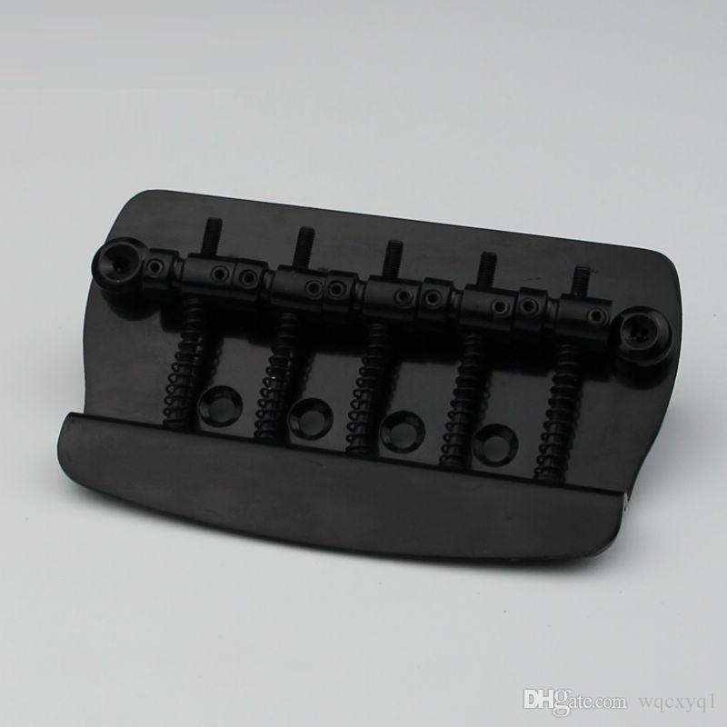 New 5 String Hard Tail Fixed Bass Electric Guitar Bridge MMB-5 Black
