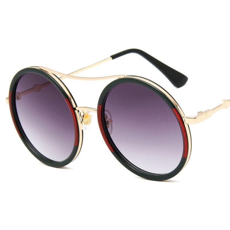 جولة الكلاسيكية موضة النظارات الشمسية للرجال والنساء 2019 مصمم خمر المرأة نظارات شمسية Oculos دي سول