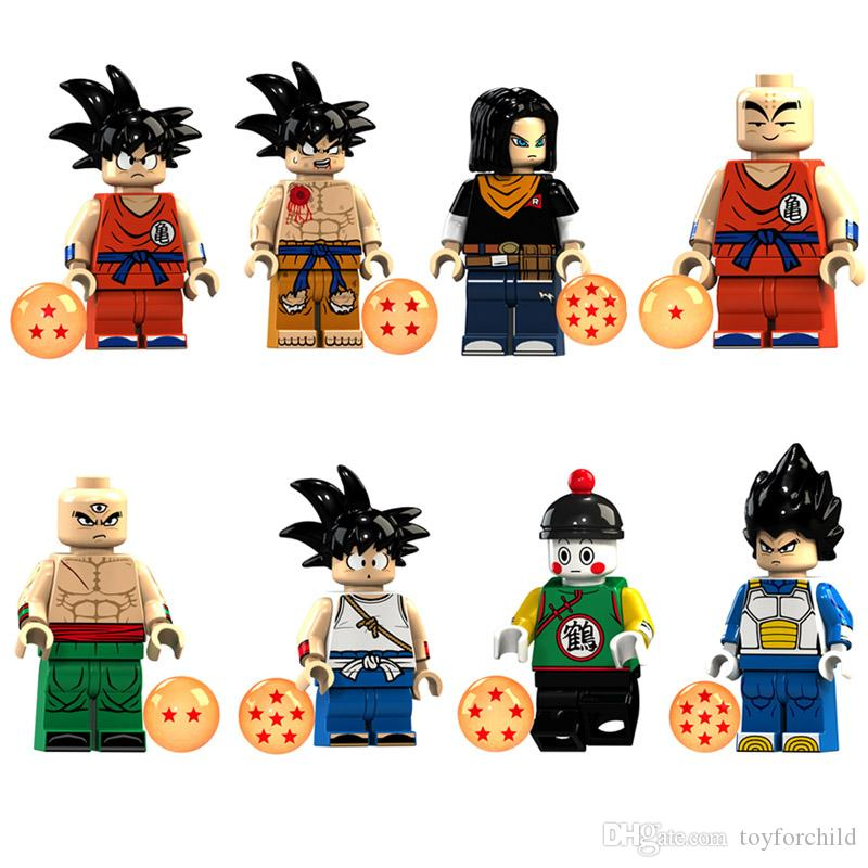 """Educational Build Toy for Children 2/"""" Dragon Ball Z Action Figure Toys Set"""