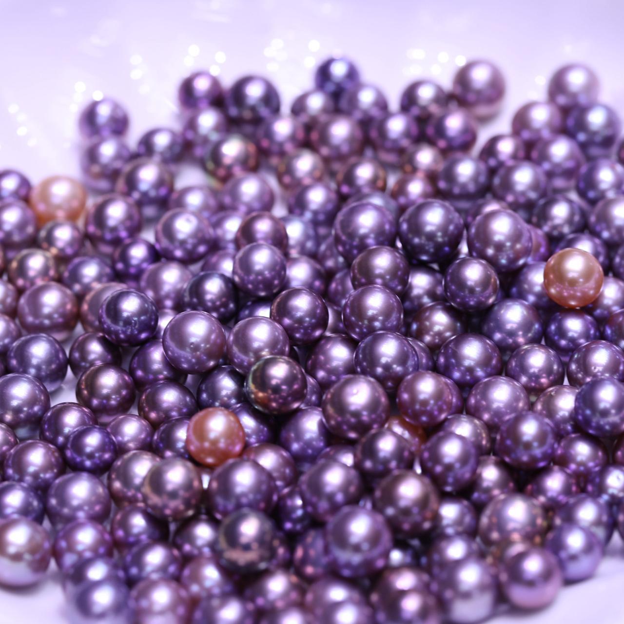 al por mayor de alta calidad magnífica de color natural 11-13mm Ronda púrpura Edison suelta perlas para la joyería de bricolaje accesorios envío libre del regalo