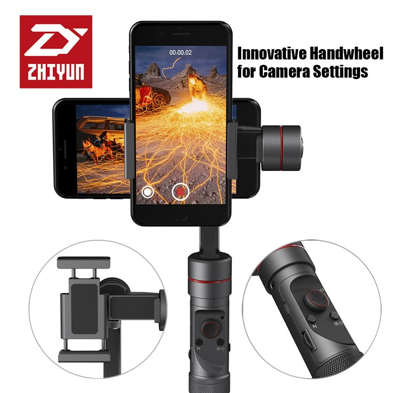 Freeshipping Smooth 3 smartphone Handheld 3 Axis gimbal stabilizer action camera selfie phone steadicam for iphone Sumsung For GoPro