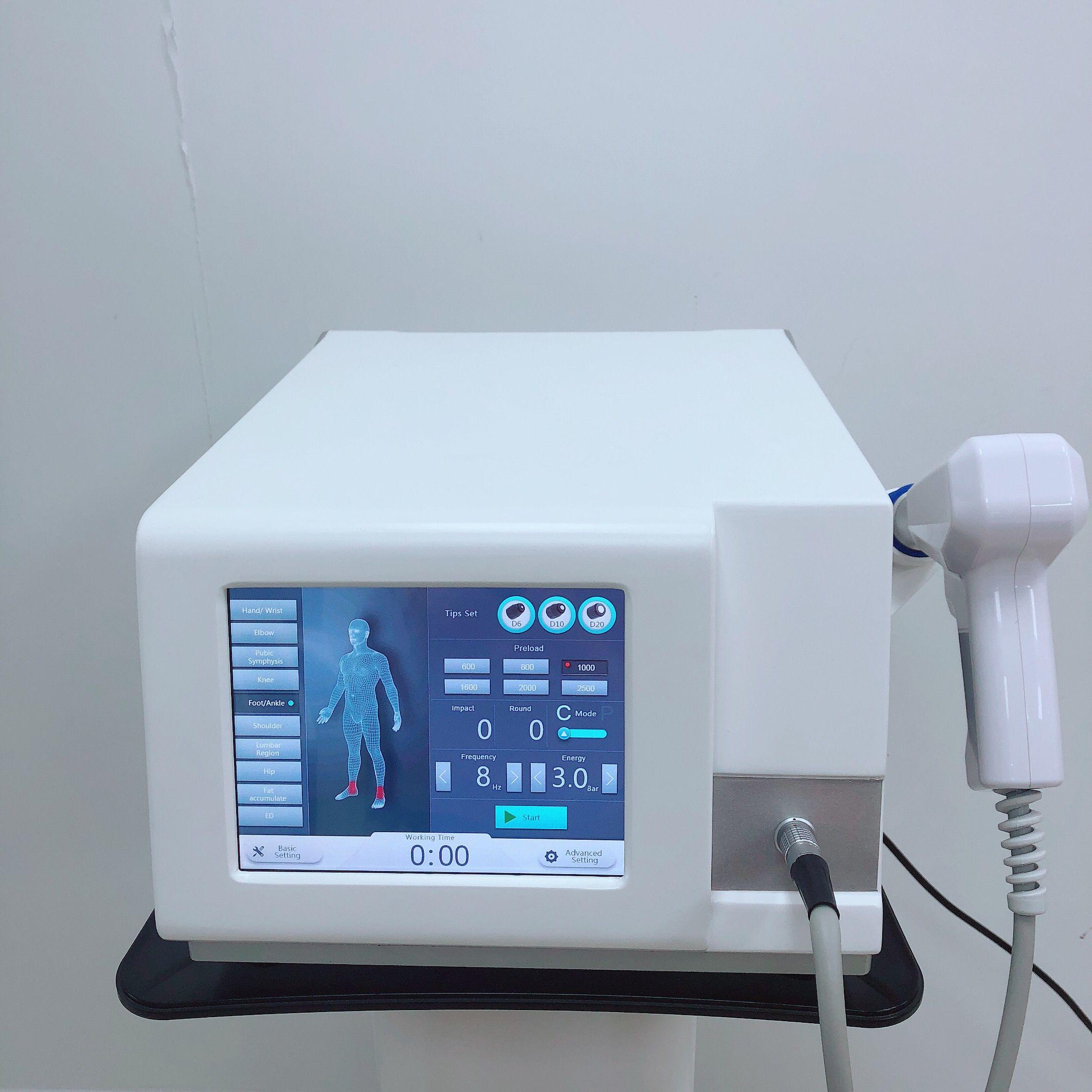 Phycial onda de choque inicial Use beleza máquina ESWT ExtracorporealShock terapia por ondas RSWT Radial Shock Wave para a dor corporal alívio tratamento ed